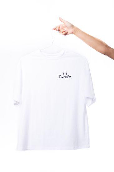 Εικόνα της WHITE T-SHIRT OVERSIZED - LOGO